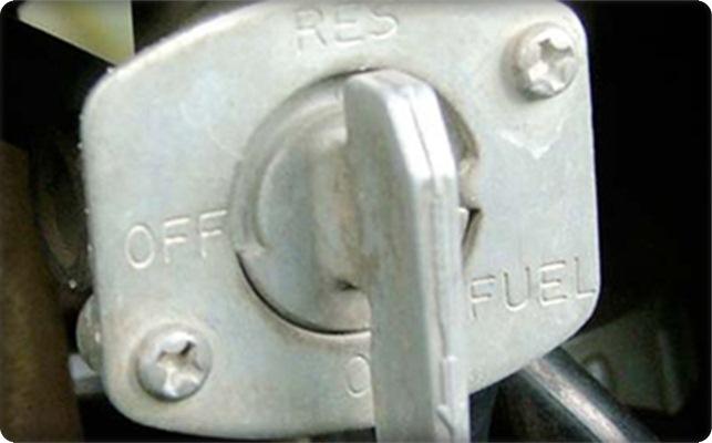motor mogok karena tutup kran bensin tertutup