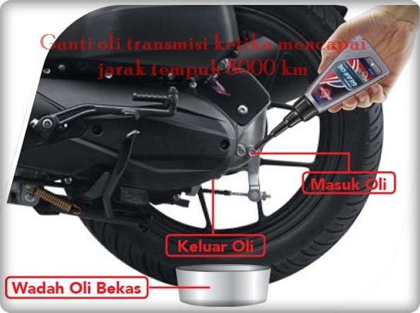 waktu yang tepat ganti oli gardan motor matic